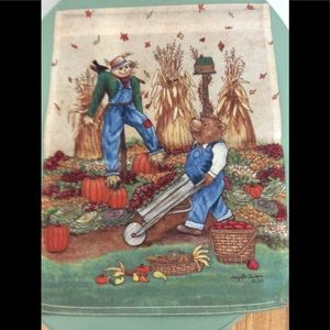 Scarecrow in Field🎃Fall Outdoor 🍂 Mini Flag